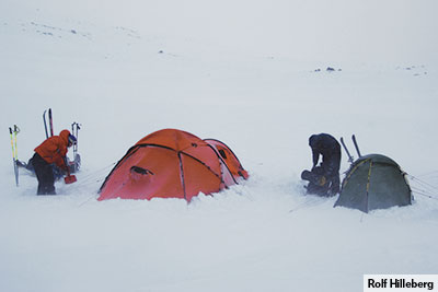 The design team out in the field testing tents. & Tent design and manufacturing at Hilleberg