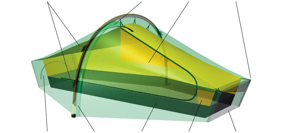 Akto 3D rendering.  sc 1 st  Hilleberg Tents & Akto u2022 1 person tent u2022 Hilleberg