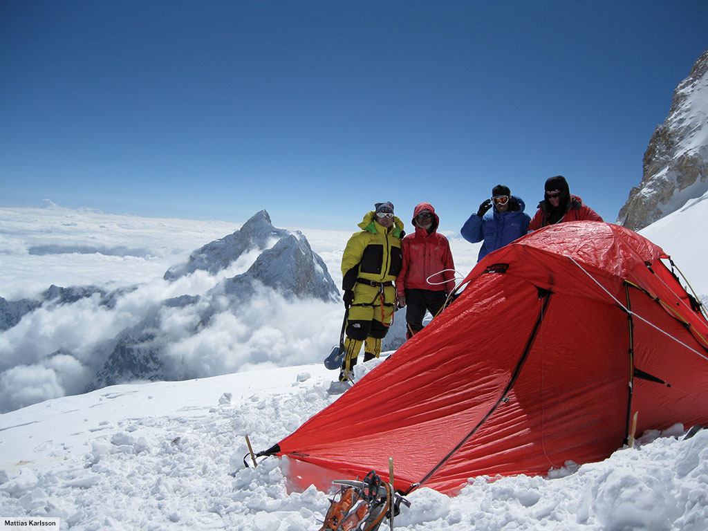 A Jannu near the summit of Mt. Kangchenjunge. & Jannu u2022 2 person tent u2022 Hilleberg