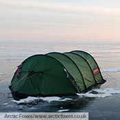 A Keron GT pitched on Lake Baikal, Greenland.