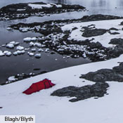 "On any trip, having the extra ""insurance"" of a high tear strength outer tent fabric is important. This is even more so if your trips are longer, or if they take you to remote and/or inclement places, such as here along the Antarctic Peninsula, during a 14 day, 100 nautical mile paddling adventure. Photo: Ballagh/Blyth."