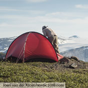 The Niak, a very light two-person tent that  is a palace for one, is a highly versatile solution to warmer weather trips. Shown here on Joeri and Anita van der Kloet's 6-month backpacking trip through Scandinavia. Photo: Joeri van der Kloet (nordic2016.com).