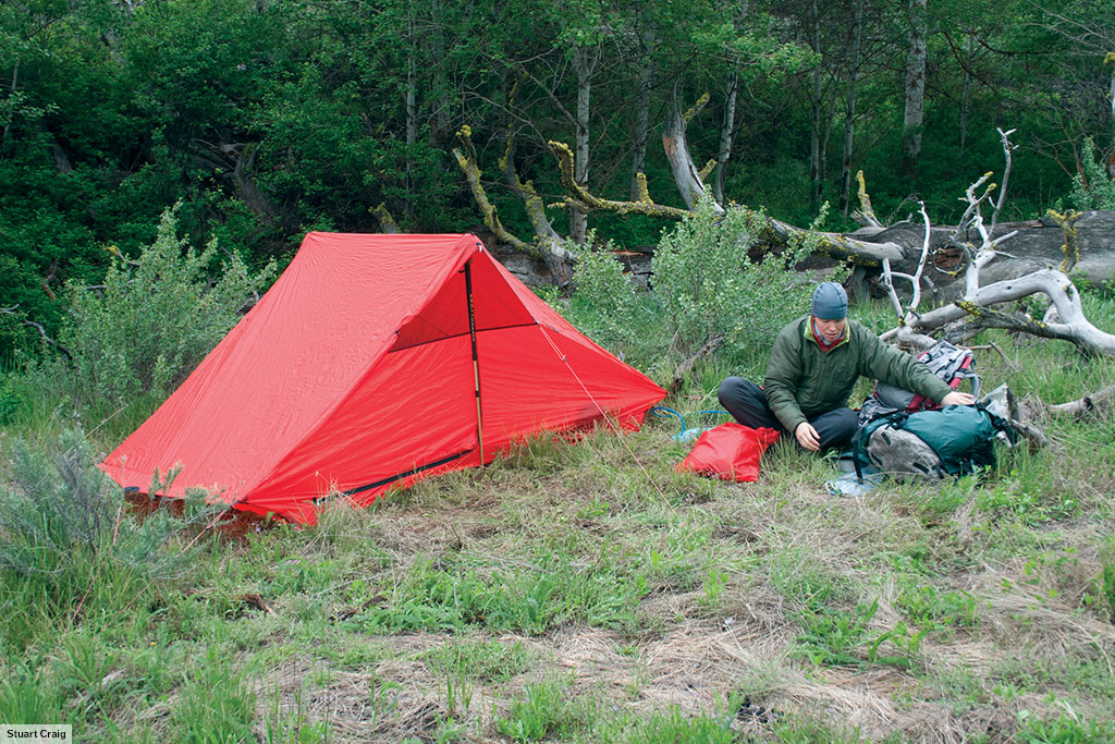 The Rajd can be supported using trekking poles like it is here on Umptanum Ridge Washington ... & Rajd u2022 Hilleberg the Tentmaker