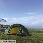 While often chosen for its strength, the Soulo is also a superb all-around tent for any kind of trip. It is remarkably lightweight and roomy, and its fully free standing construction allows you to easily adjust its position so as to avoid rocks or other such discomfort-causing annoyances. Seen here in Sarek National Park, Sweden. Photo: Tristan Tempest.
