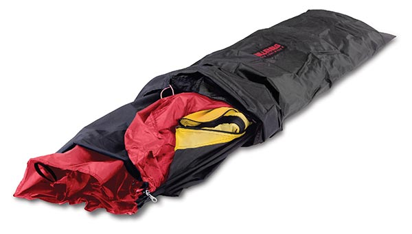 The Hilleberg sled pack with a tent inside it.