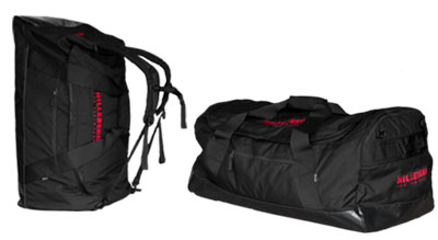 The Hilleberg Carrier Bag 150 can be used both as a duffel and as a back pack.