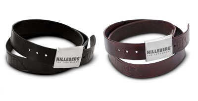 Hilleberg belts. Black and brown leather.