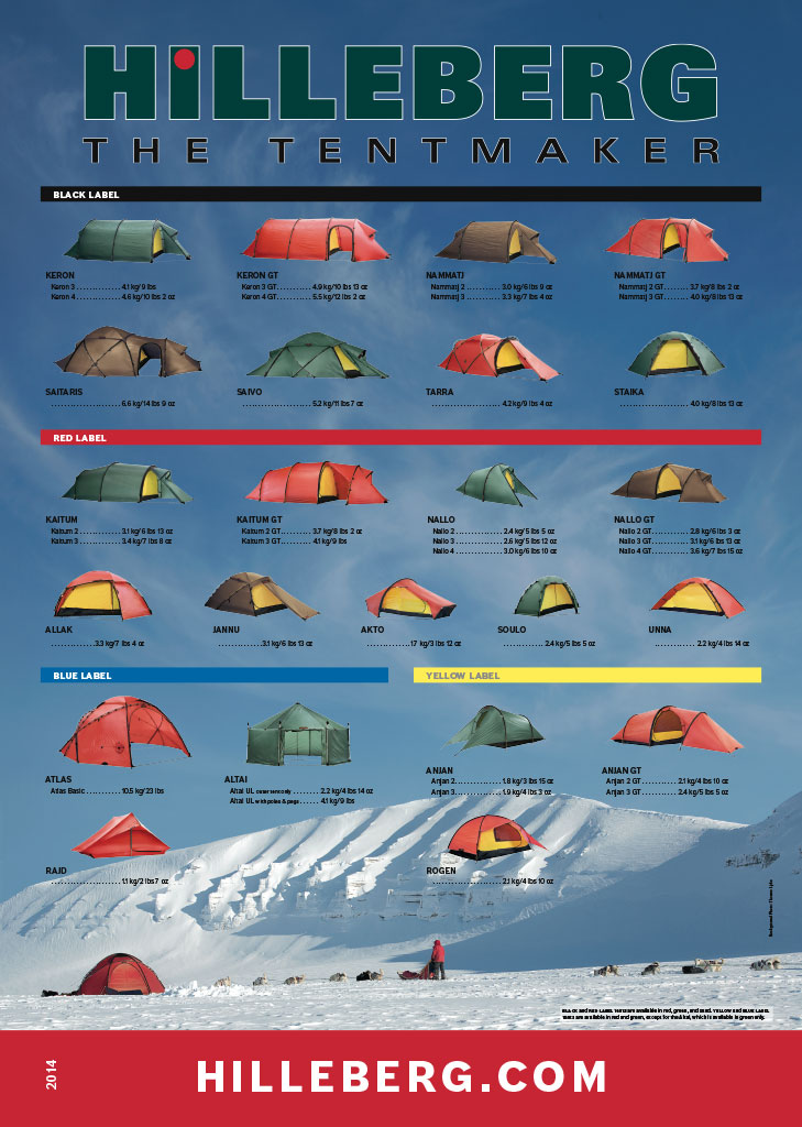 Hilleberg Large and small posters both show the complete line of Hilleberg tents.  sc 1 st  Hilleberg Tents & Hilleberg Extras