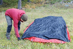 First lay out the tent upside down then lay the Footprint out on top with the shiny side u2013 the side with the Hilleberg logo u2013 towards the tent floor. & Practical tips for using your Hilleberg tent