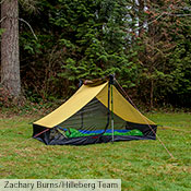 Either one or both of the Anaris's outer tent walls can be rolled away. Use the included guy line loops to peg the inner tent on one side and drape the wall over the top, or on both sides and roll both walls up and secure them above the ridge.