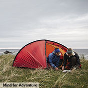 "In the summer of 2015, Linnéa Grahn and Emma Lockhart did a fully self-supported run along the northwest coast of Scotland from Cape Wrath in the north to the Mull of Galloway in the south. They covered nearly 900 km (560 miles) in 24 days, and loved their Niak. ""With the wettest summer in living memory, we really put the Niak to the test with convincing results. It is now our big favorite and an obvious choice for all of our upcoming lightweight trips."" Photo: Mind for Adventure (mindforadventure.com)."