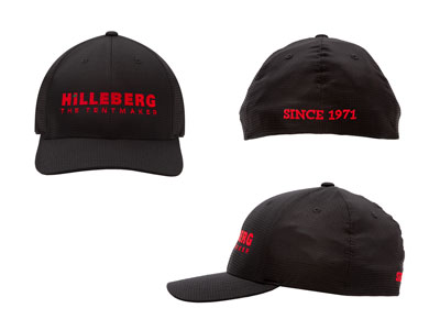 Front: Hilleberg logo. Back: Text 'Since 1971'