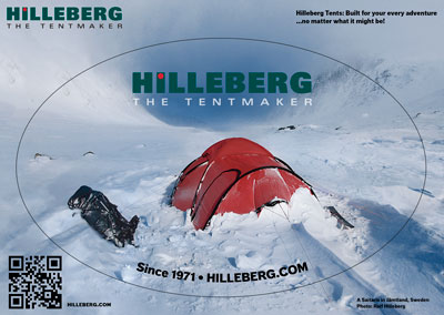 Hilleberg photo stickers.