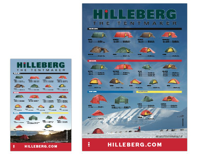 Hilleberg Large and small posters both show the complete line of Hilleberg tents.